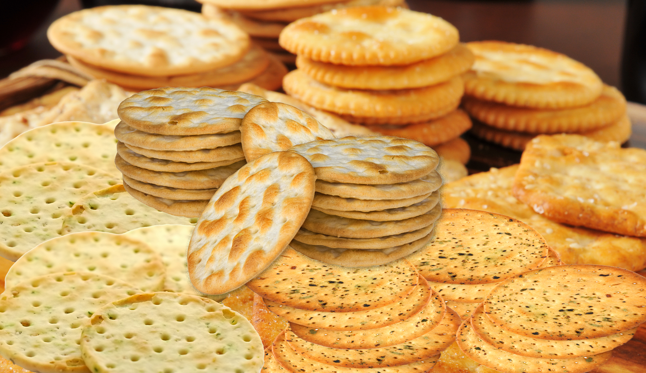 Assortment of crackers